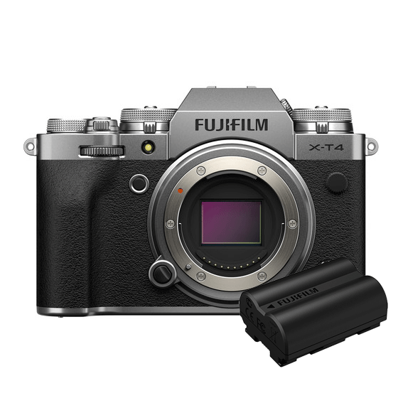 Câmera Fujifilm X-T4 Silver (Somente o corpo) + Bateria Extra NP-W235