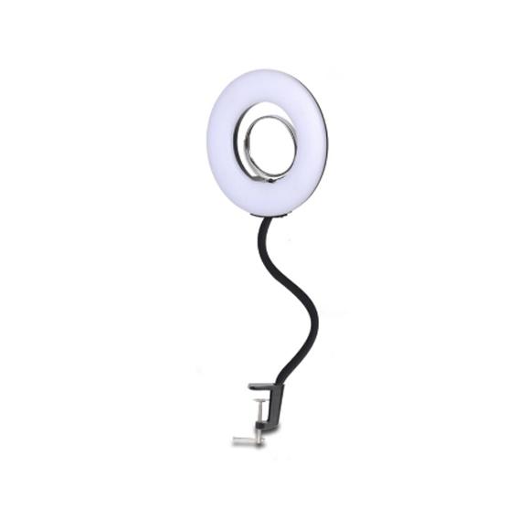 Iluminador Ring Light 8 articulado com Espelho
