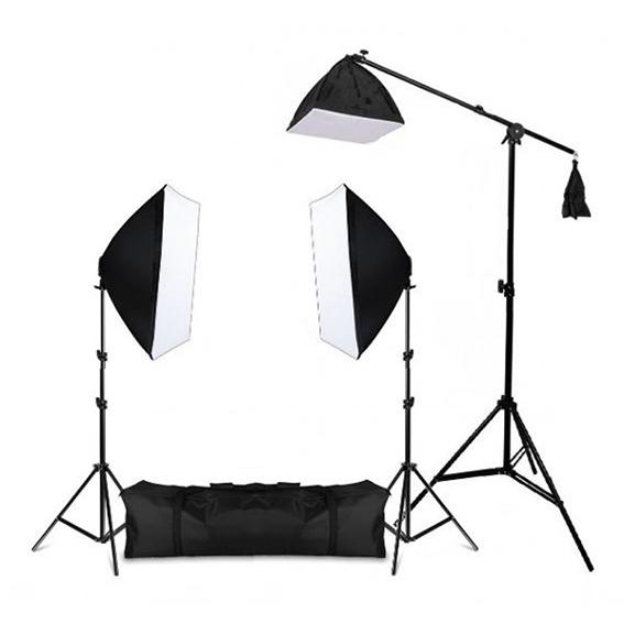 Kit de Iluminação Greika PK-SB04 para Estúdio Fotográfico 220V