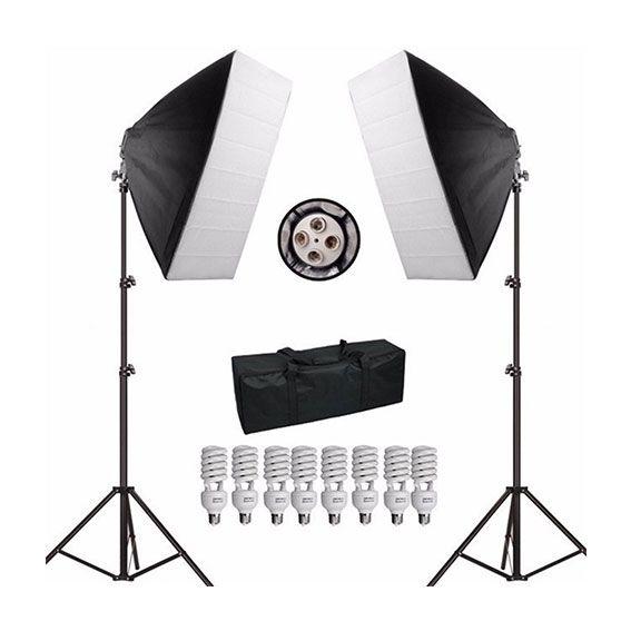 Kit Iluminação Greika para Estúdio Fotográfico PK-SB01 220V