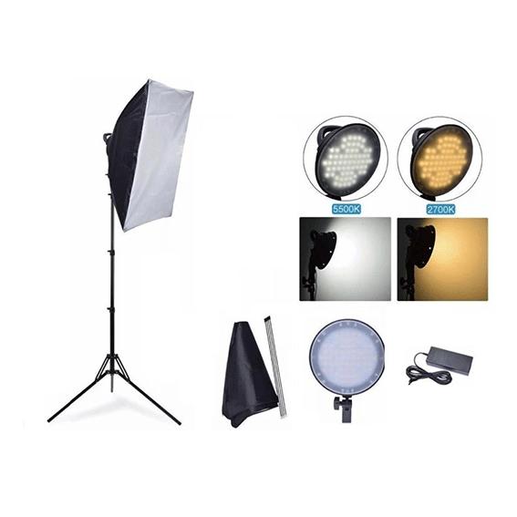 Kit Ledmax com 1 Iluminador + 1 Softbox + 1 Tripé