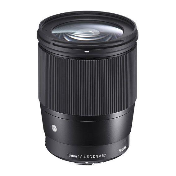 Lente Contemporary Sigma 16mm f/1.4 para Sony E-mount