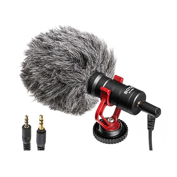 Microfone Shotgun Boya BY-MM1 para Câmeras e Smartphones