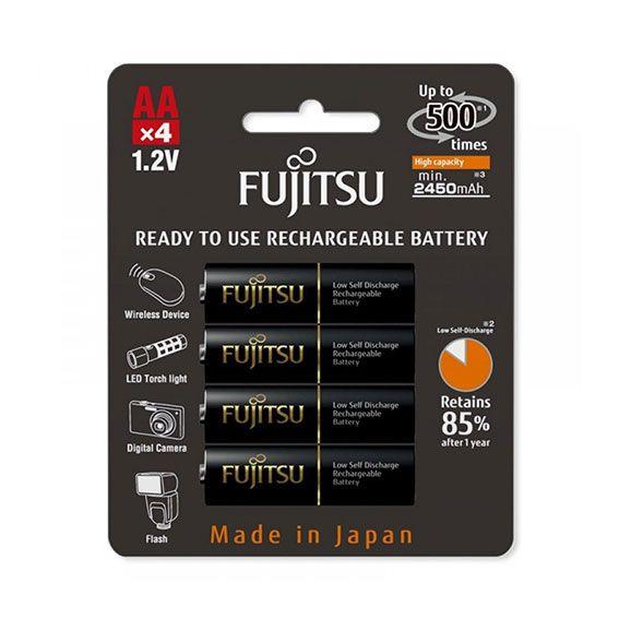 Pilha Recarregável Fujitsu (Eneloop Pro) 2550 mAh HR-3UTHCEX | 4 Pilhas AA