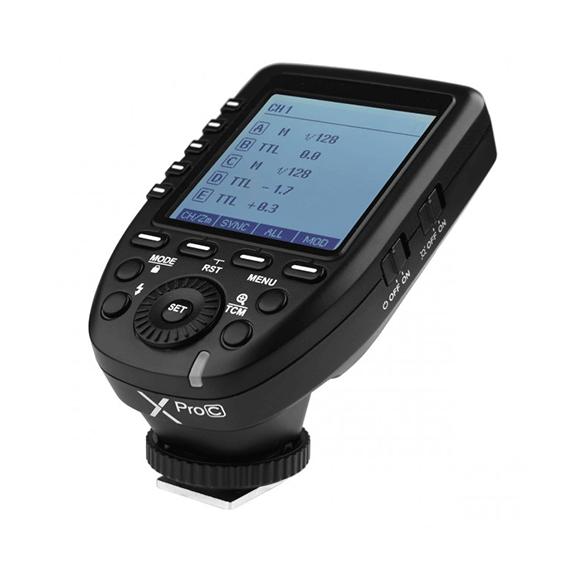Rádio Flash Trigger Wireless Godox XPro C TTL para Canon