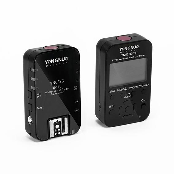 Rádio Flash Yongnuo YN-622C Kit TLL para Canon