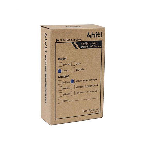 Ribbon e Papel Hiti P110 | 60 Impressões 10x15