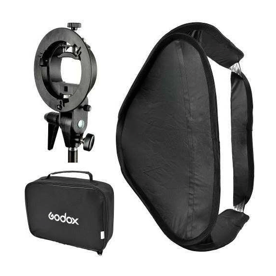 Softbox Godox 60x60cm com Suporte Bracket para Flash Speedlite