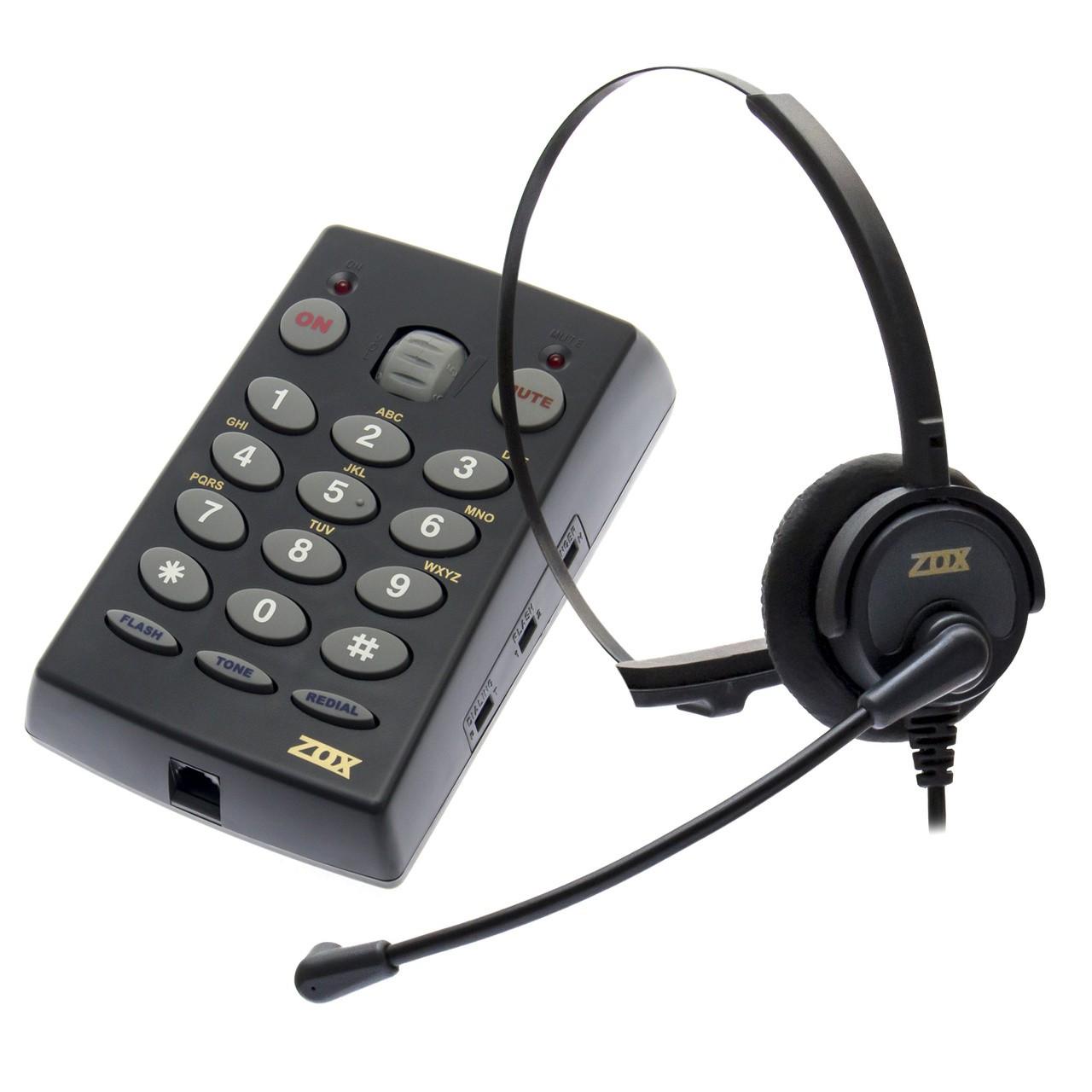 Headset com Base Discadora TZ-30 - Zox