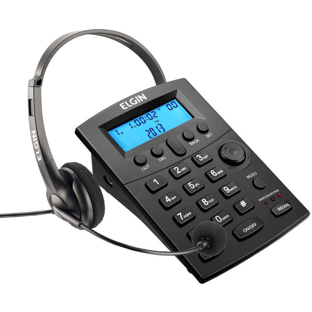 Headset RJ9 com Base Discadora HST-8000 - Elgin