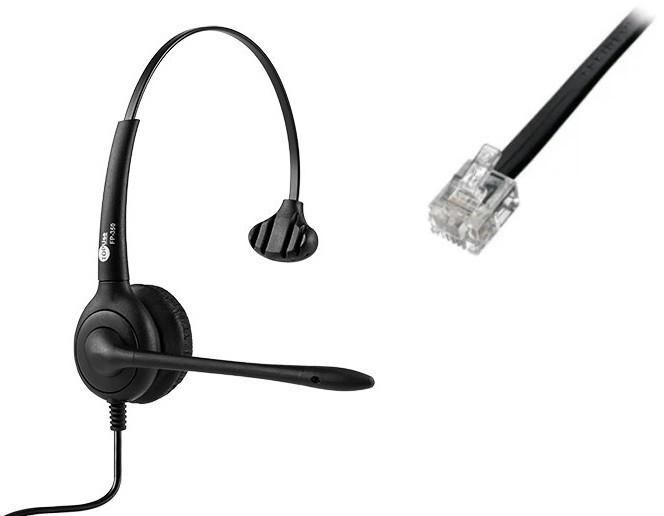 Headset RJ9 para Cisco/Avaya FP 350 Premium - TopUse