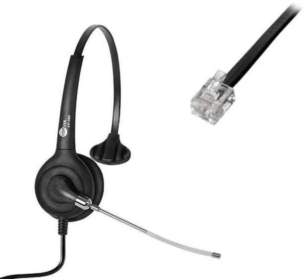 Headset RJ9 para Cisco/Avaya FP 360 Premium - TopUse
