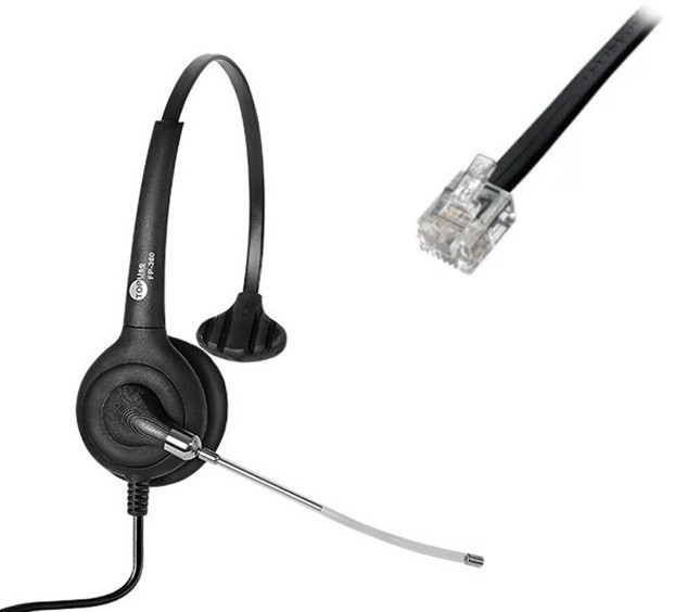 Headset RJ9 para Yealink/Grandstream FP 360 Premium - TopUse