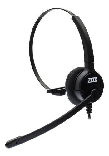 Headset Tubo Flex Duplo Auricular Hz-40d - Zox