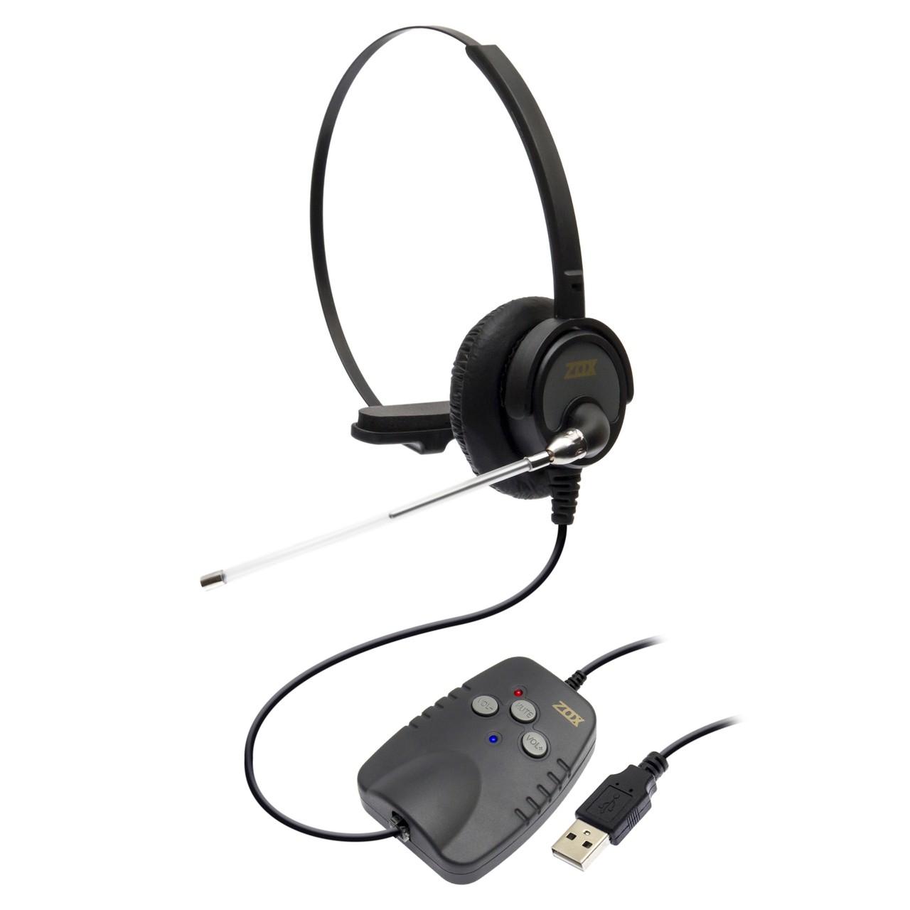 Headset USB com Adaptador para RJ9 DH-50T - Zox
