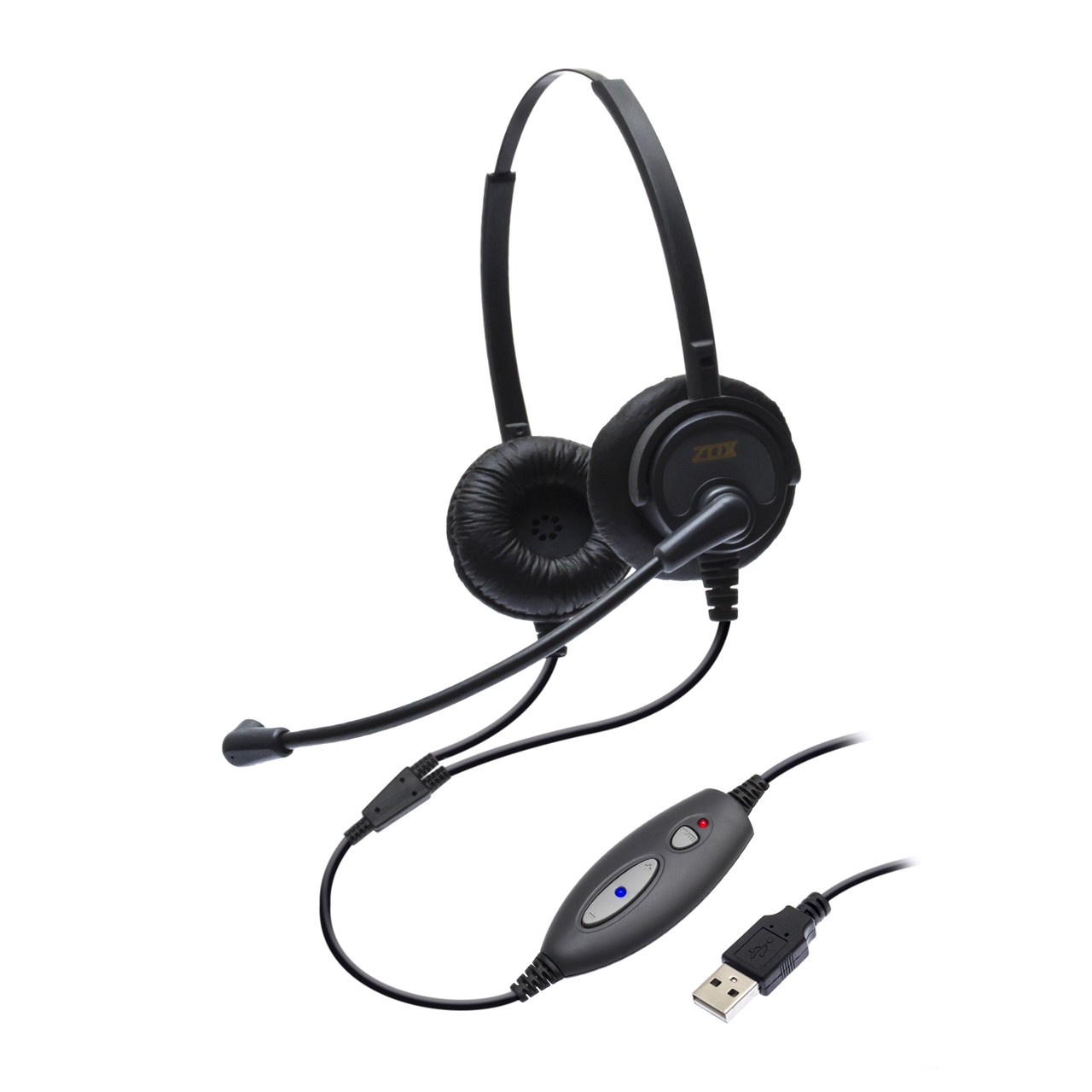 Headset USB DH-60D Biauricular - Zox