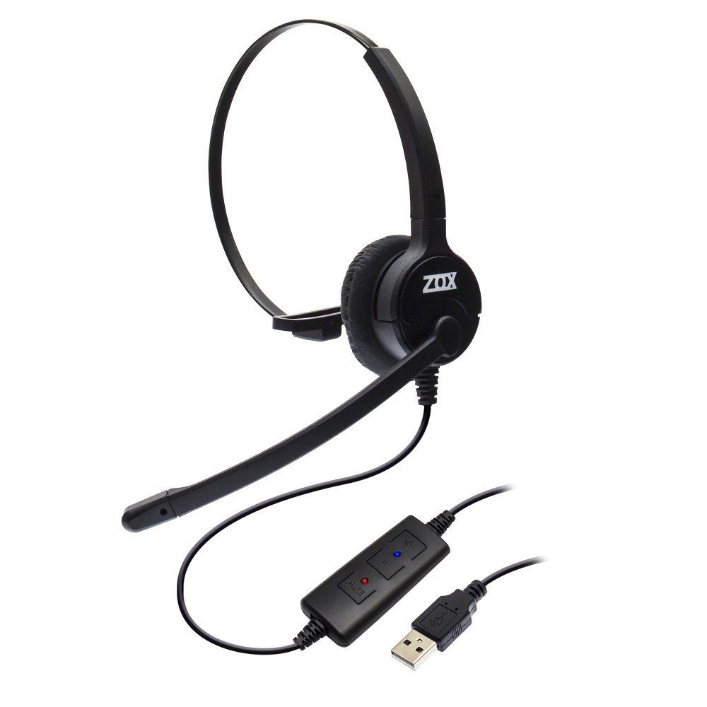 Headset USB DH-80 com Cancelador de Ruidos - Zox