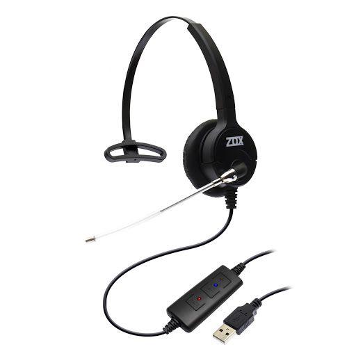 Headset USB DH-80T com Cancelador de Ruidos - Zox