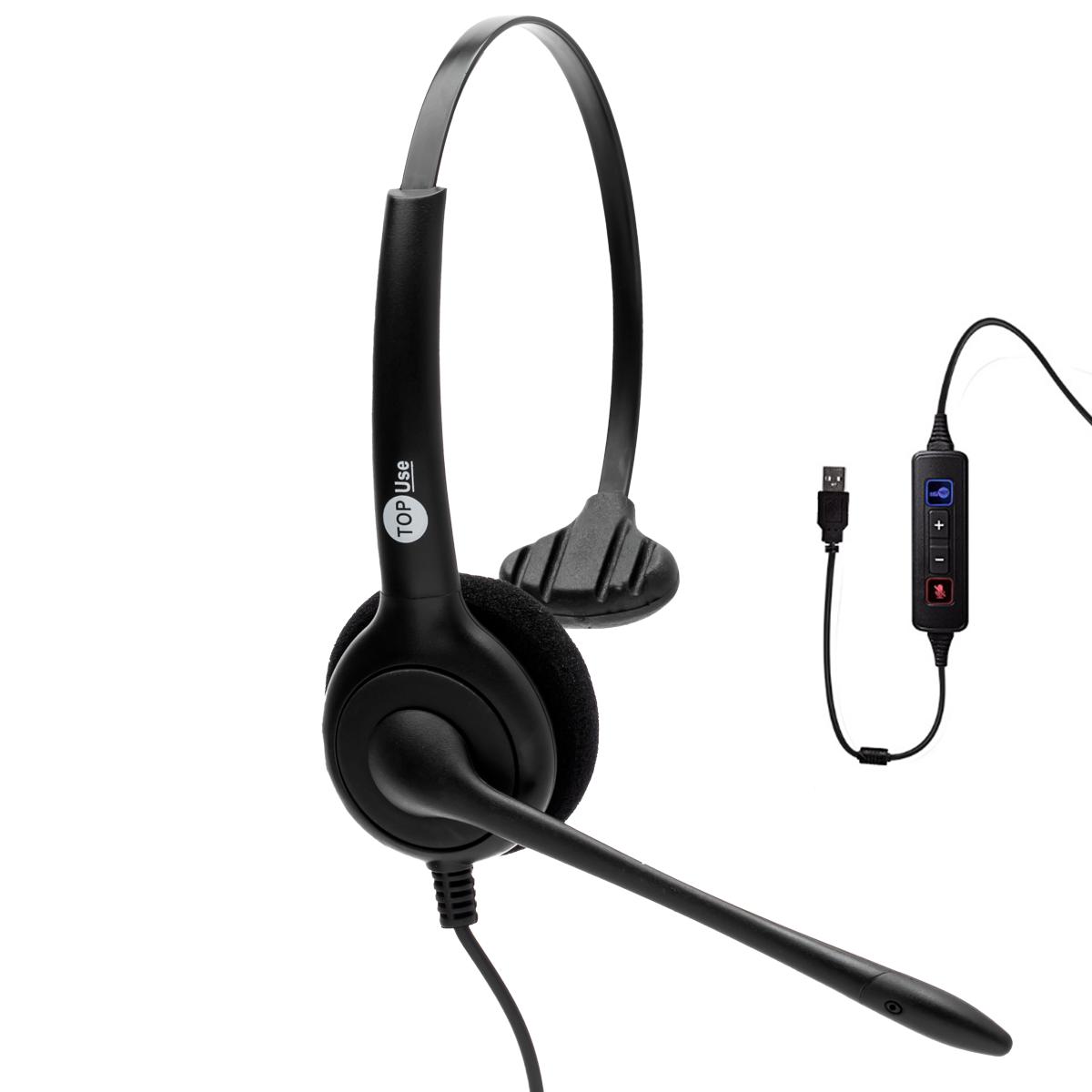 Headset USB FP 350 com Cancelador de Ruídos - TopUse