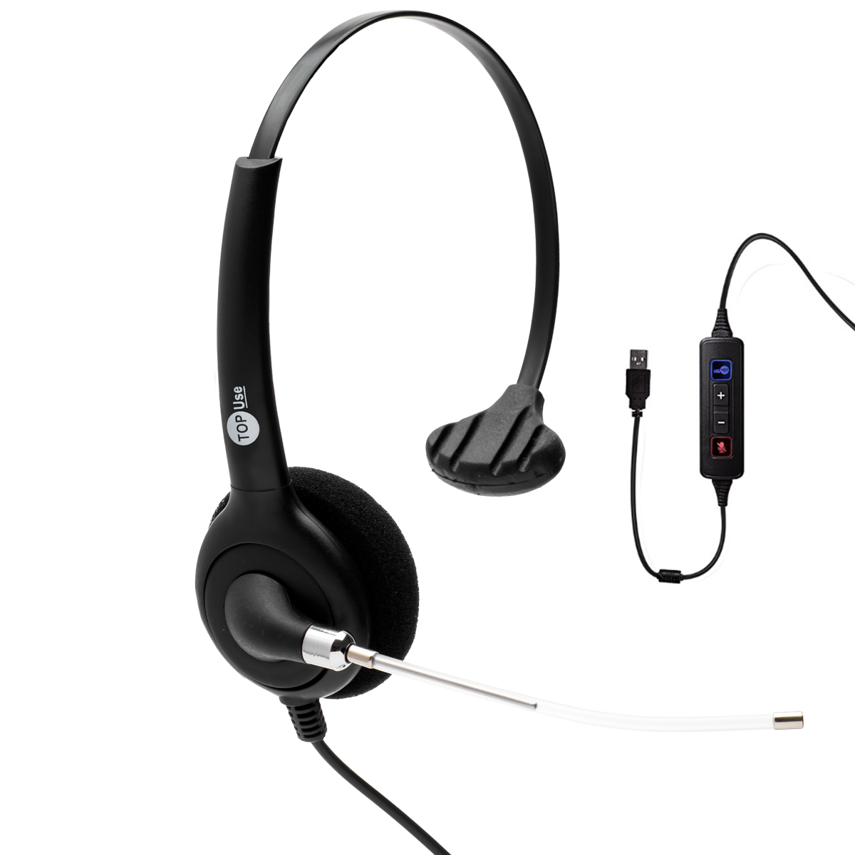 Headset USB FP 360 com Cancelador de Ruídos - TopUse