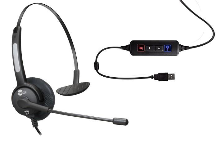 Headset USB HTU-300 com Cancelador de Ruídos - TopUse