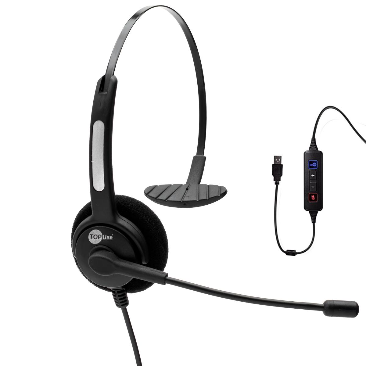 Headset USB VoIP c/ Tubo Flexível HTU-300 - TopUse