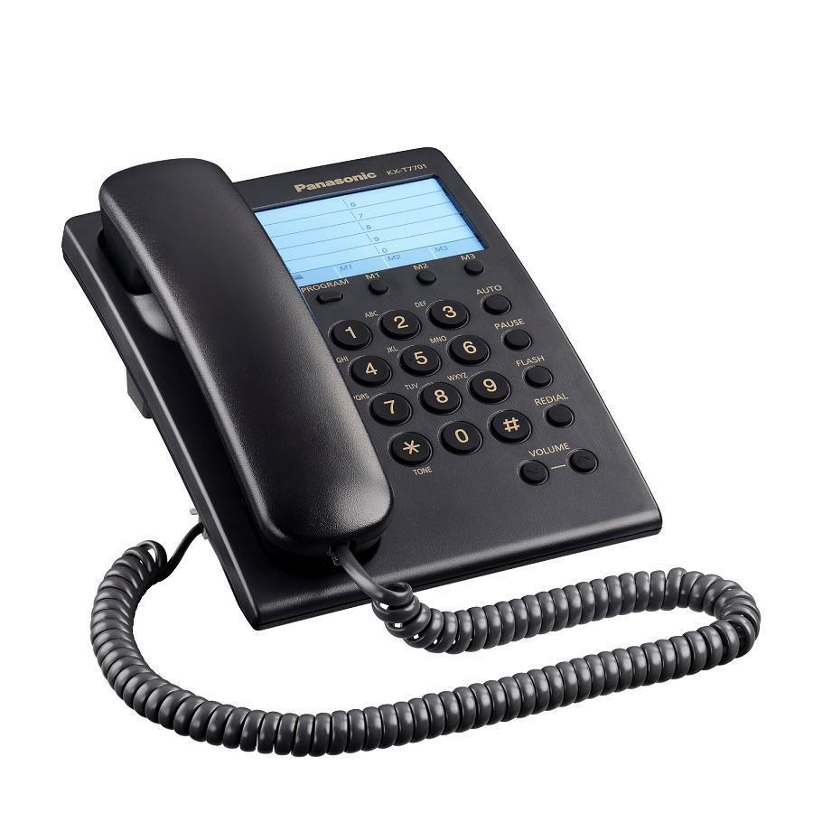 Telefone Analógico KX-T7701 Preto - Panasonic