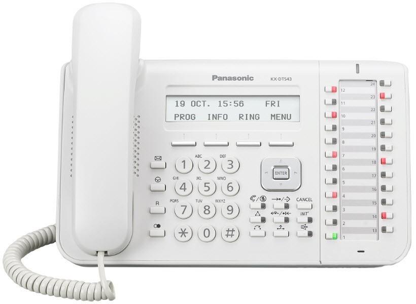 Telefone Digital KX-DT543X - Branco - Panasonic