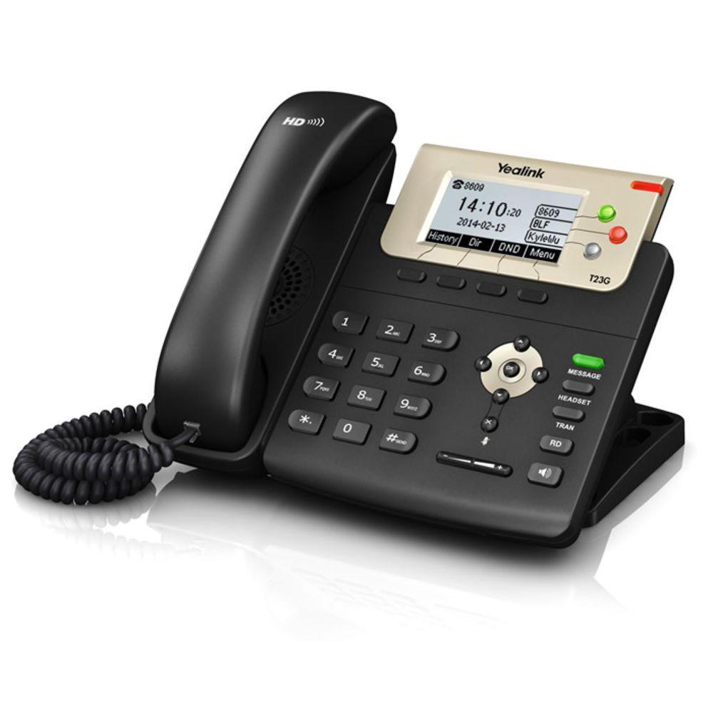 Telefone IP T23G POE com Fonte - Yealink