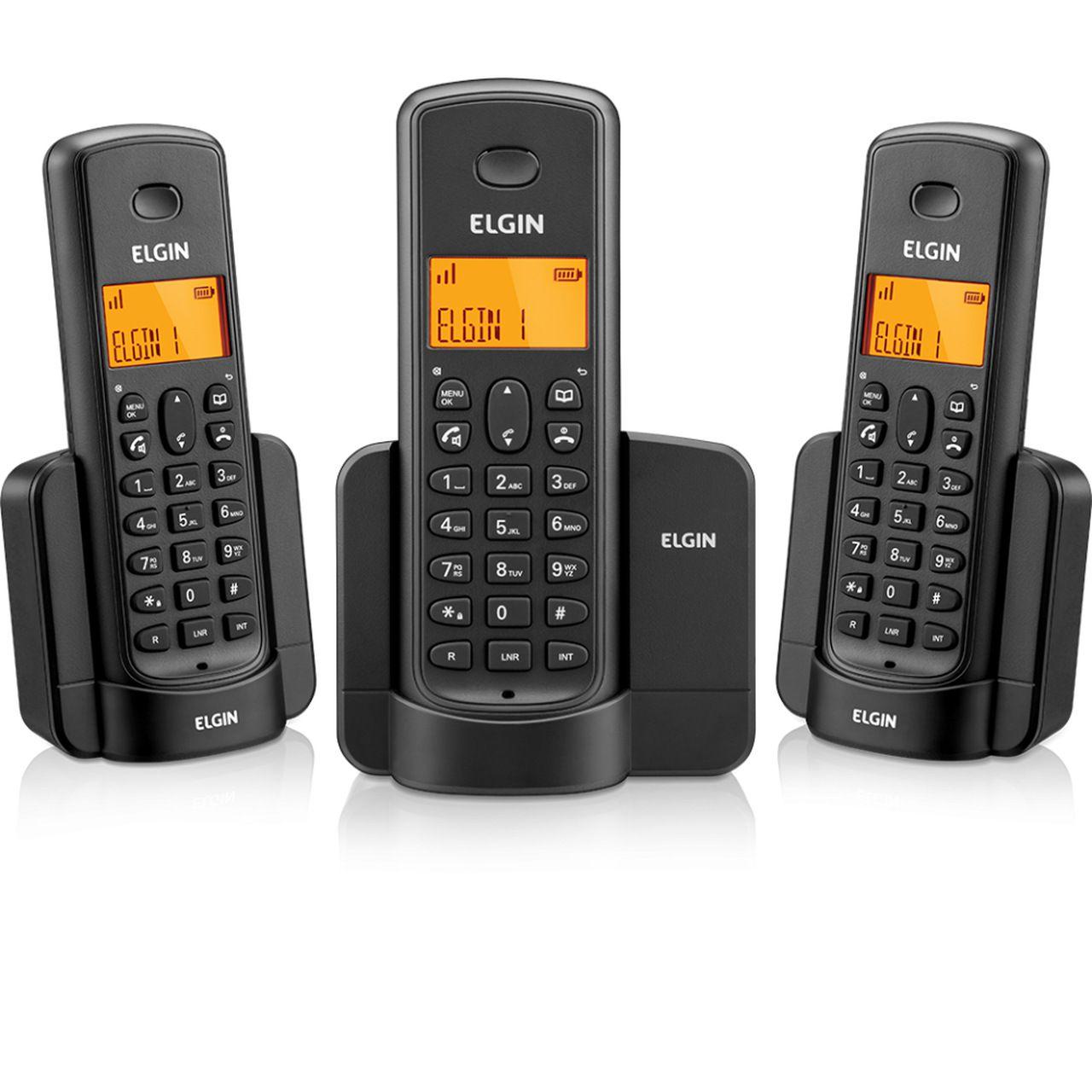 Telefone sem Fio TSF-8003 + 2 Ramais com Viva Voz - Elgin