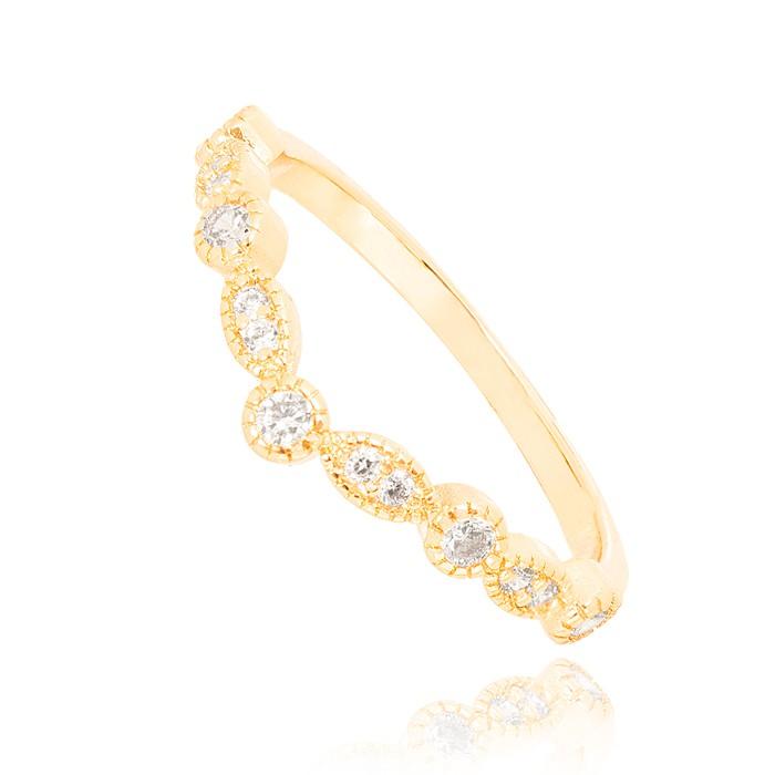 Anel Folheado Ouro 18K Micro Zircônia Cristal Inspired Vivara