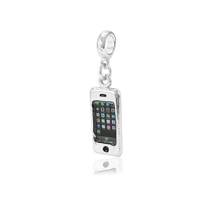 Berloque iPhone Folheado Ródio