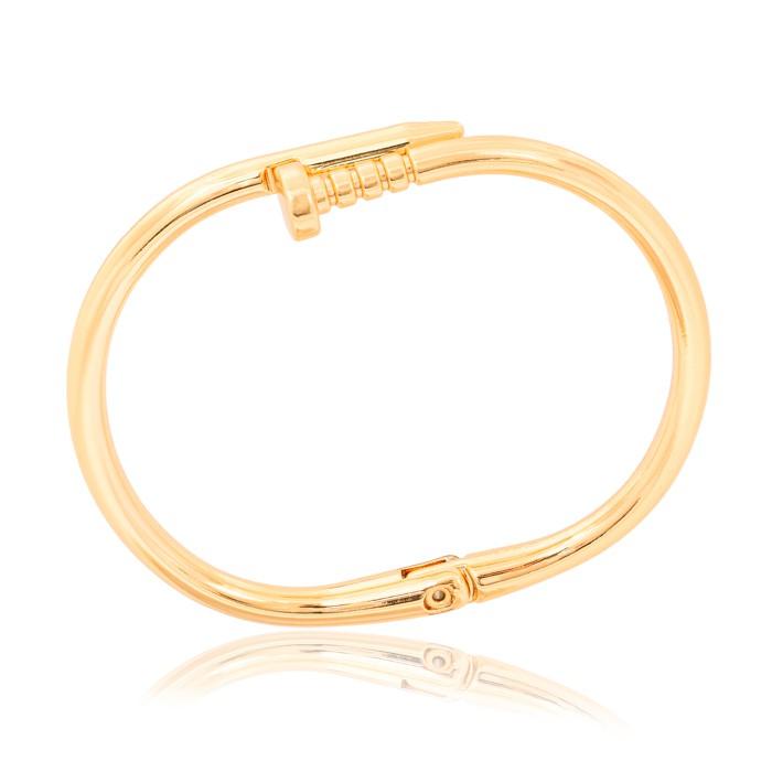 Bracelete Folheado Ouro 18K em Forma de Prego