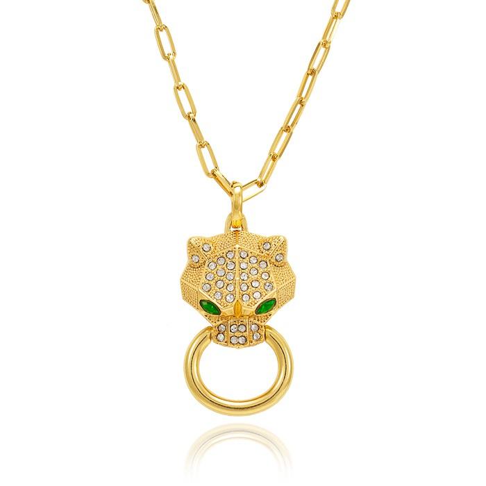 Colar Cartier Folheado Ouro 18K de Tigre