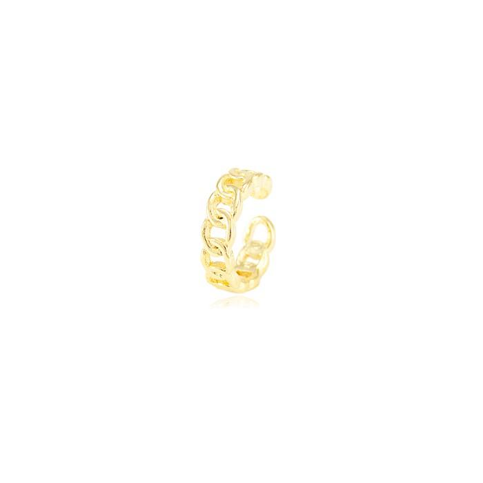 Piercing Fake Folheado Ouro 18K Elos Entrelaçados