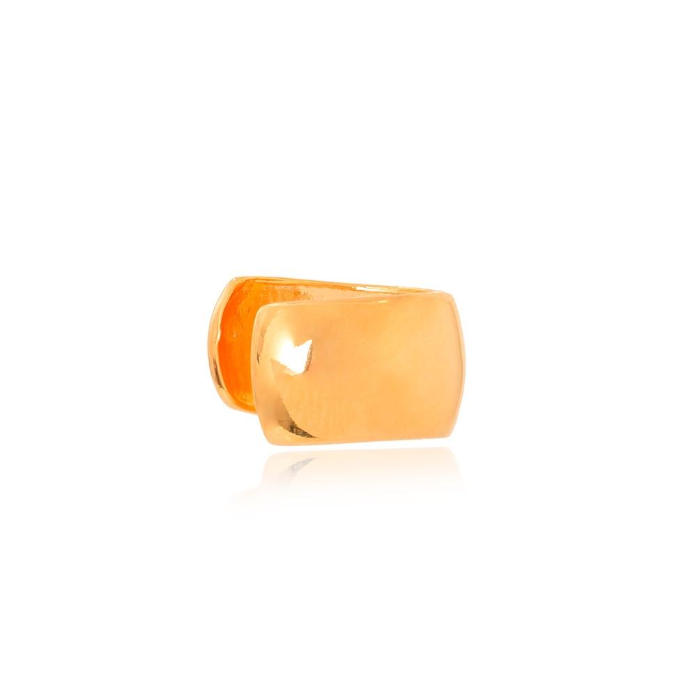 Piercing Fake Folheado Ouro 18K Grosso Liso