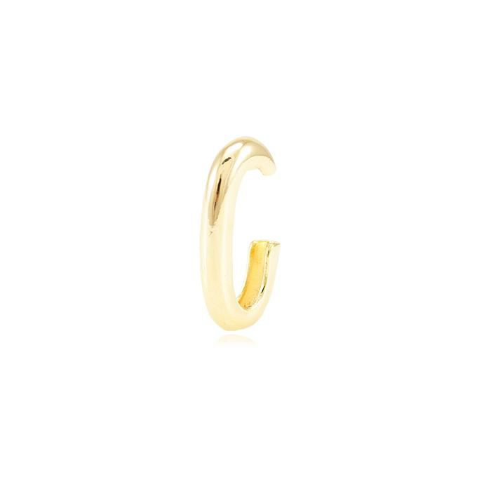 Piercing Fake Folheado Ouro 18K Oval Liso