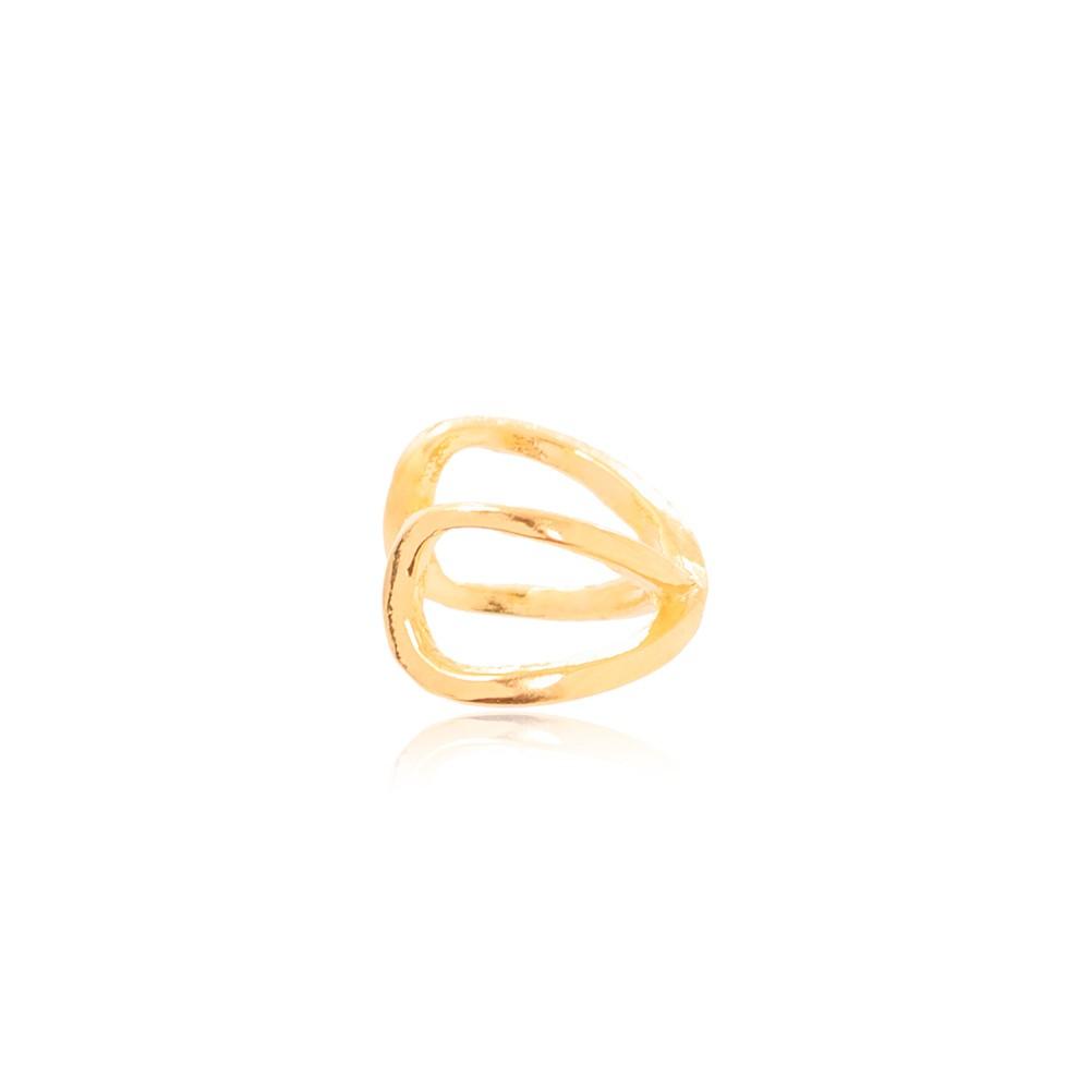 Piercing Fake X  Liso   Folheado Ouro 18K