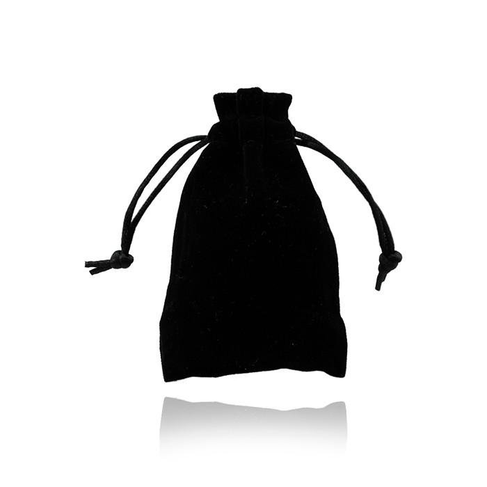 Saquinho Pequeno de Veludo Preto