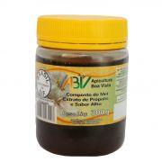 Composto de mel e extrato de própolis sabor alho pote plástico 300g