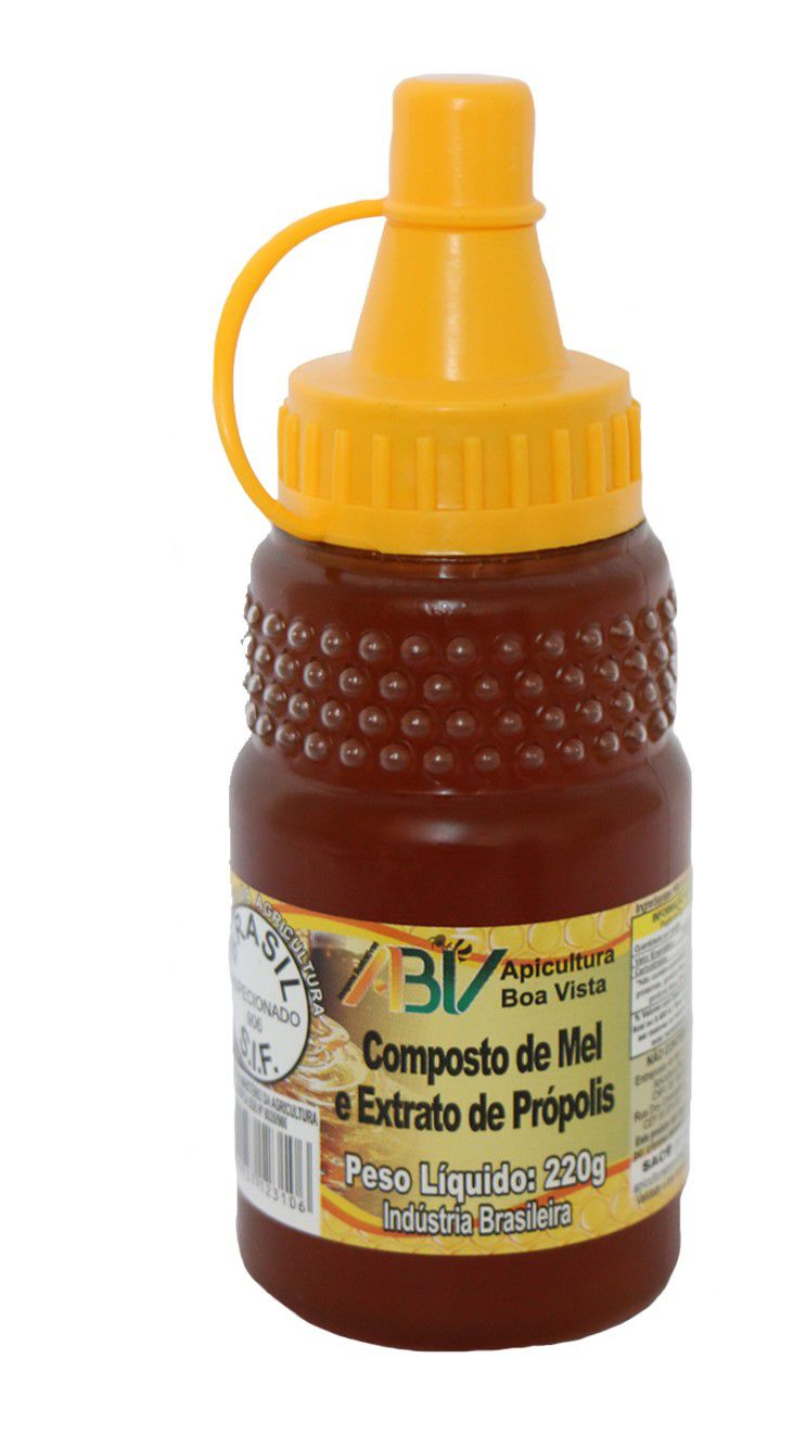 Composto de mel e extrato de própolis bisnaga 220g