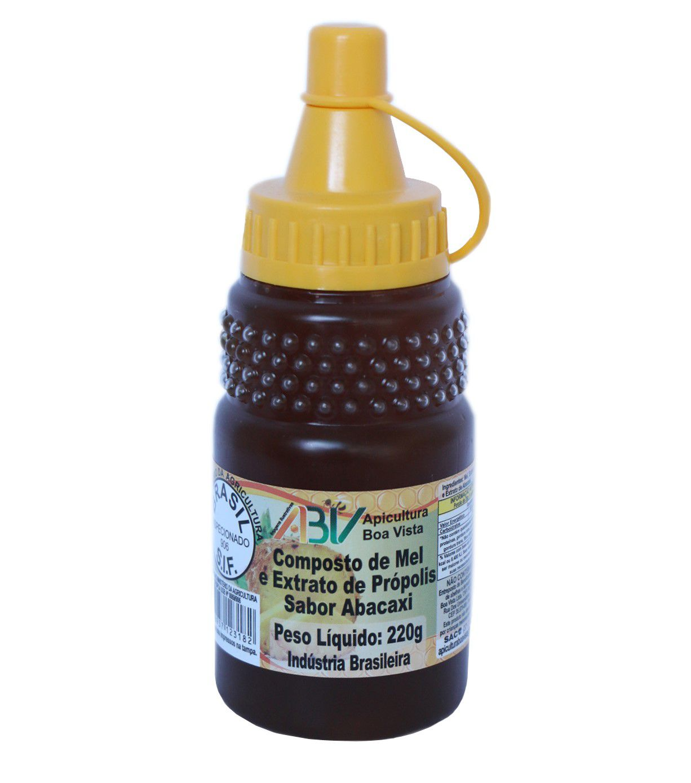 Composto de mel e extrato de própolis sabor abacaxi bisnaga 220g