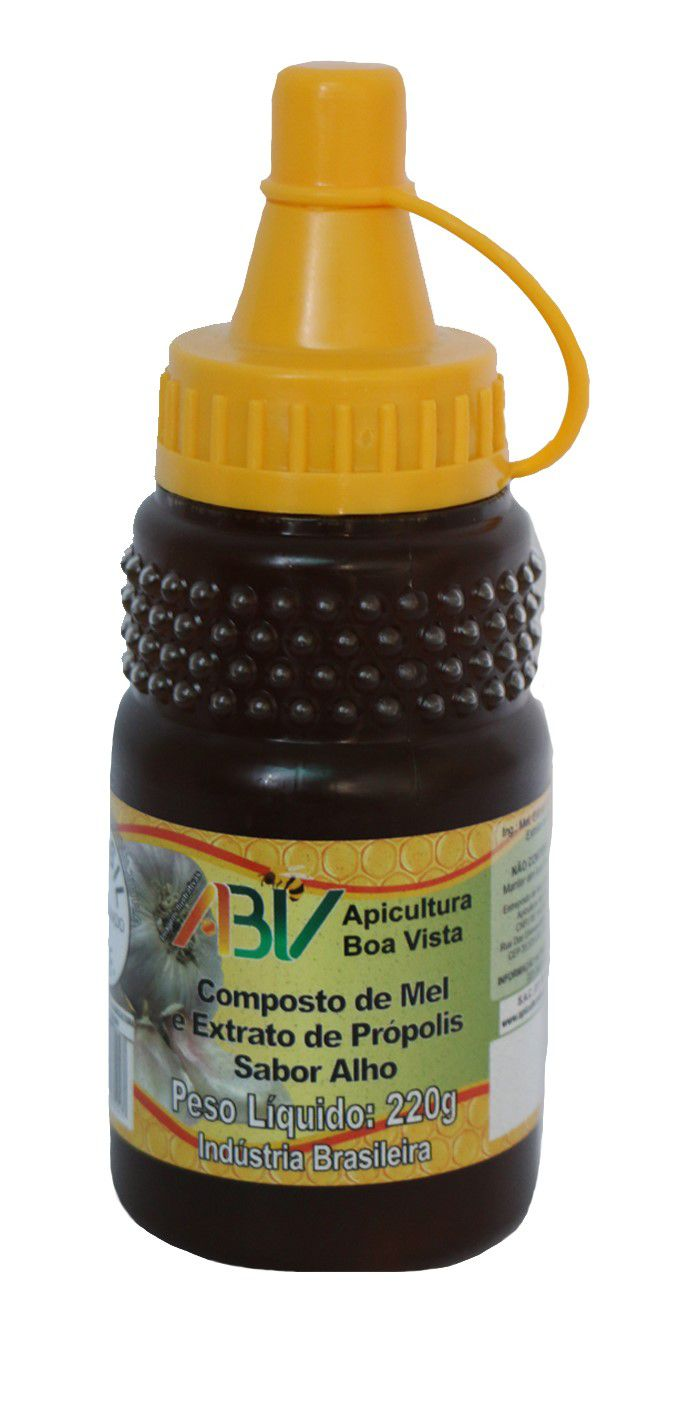 Composto de mel e extrato de própolis sabor alho bisnaga 220g