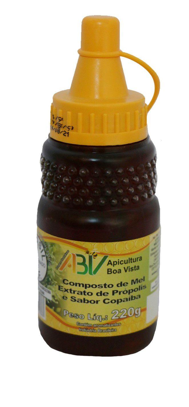 Composto de mel e extrato de própolis sabor copaíba bisnaga 220g