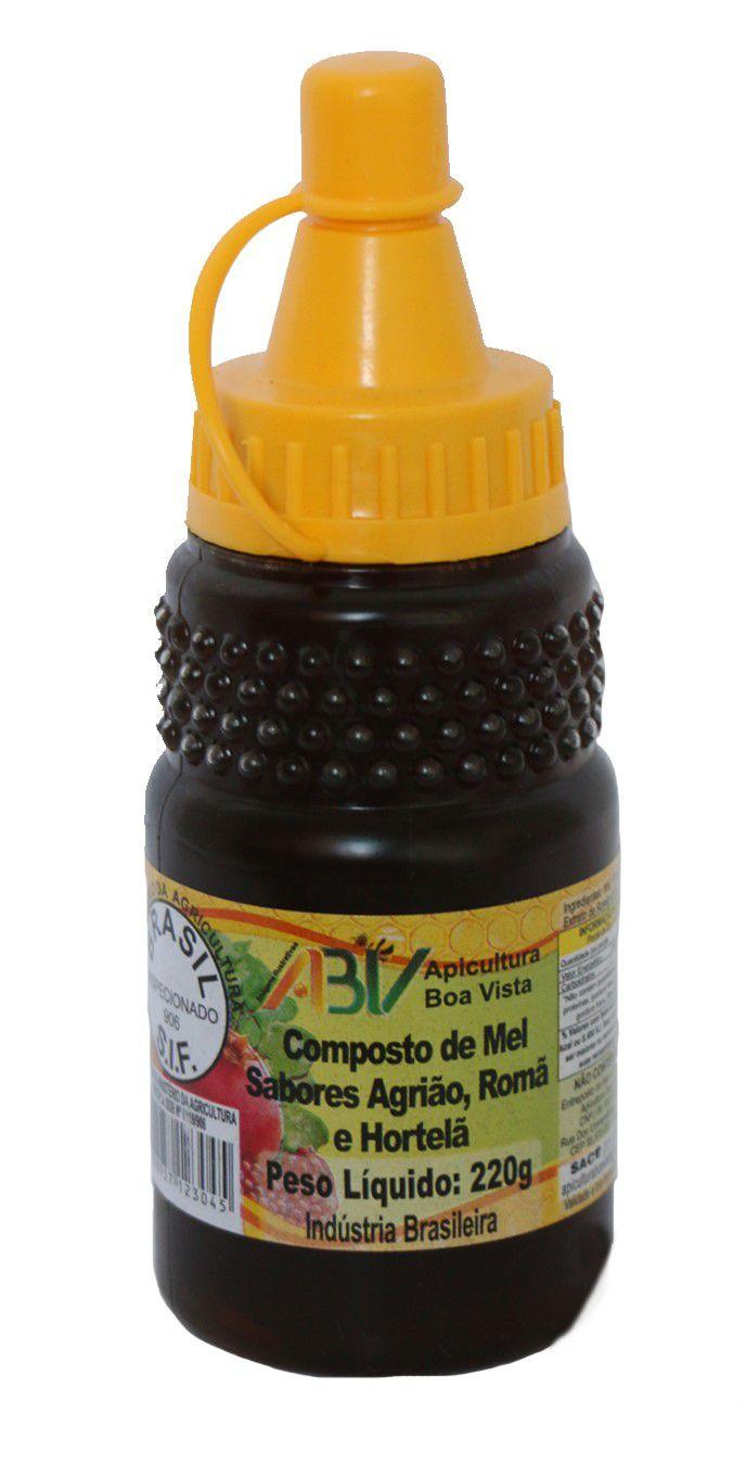 Composto de mel sabores romã, agrião e hortelã bisnaga 220g