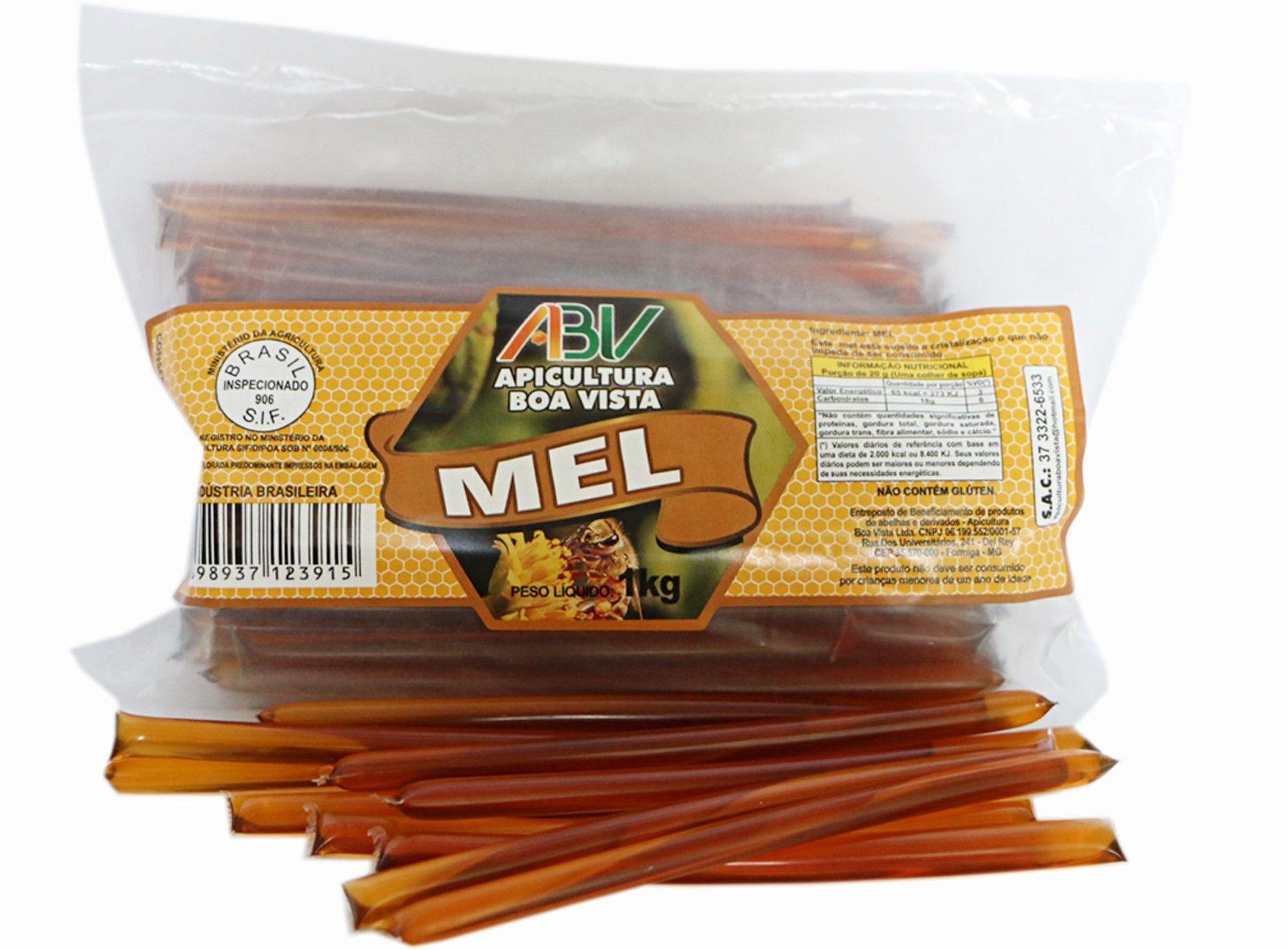Mel puro em sachê stick pacote 1kg