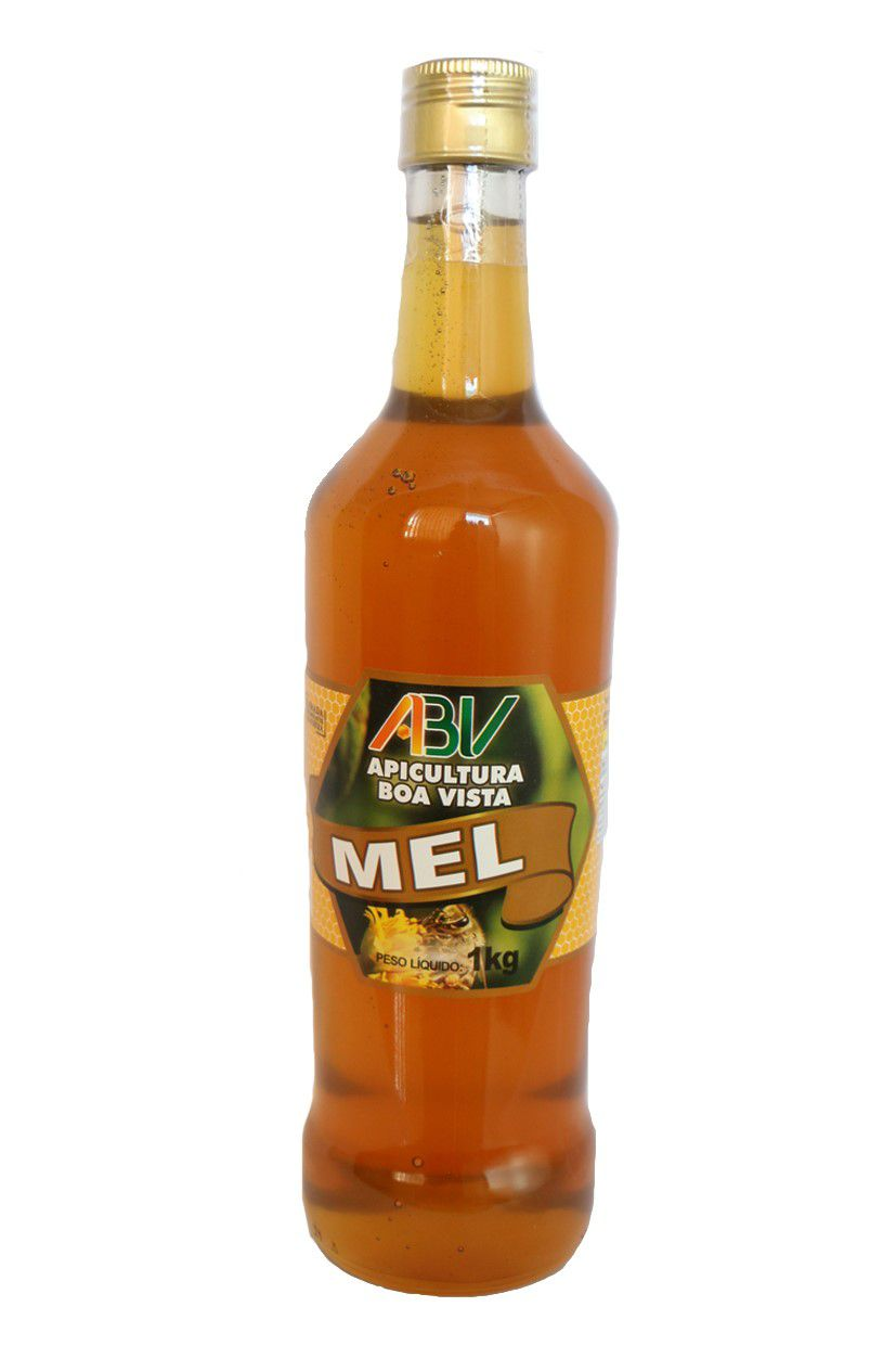 Mel puro garrafa de vidro 1l