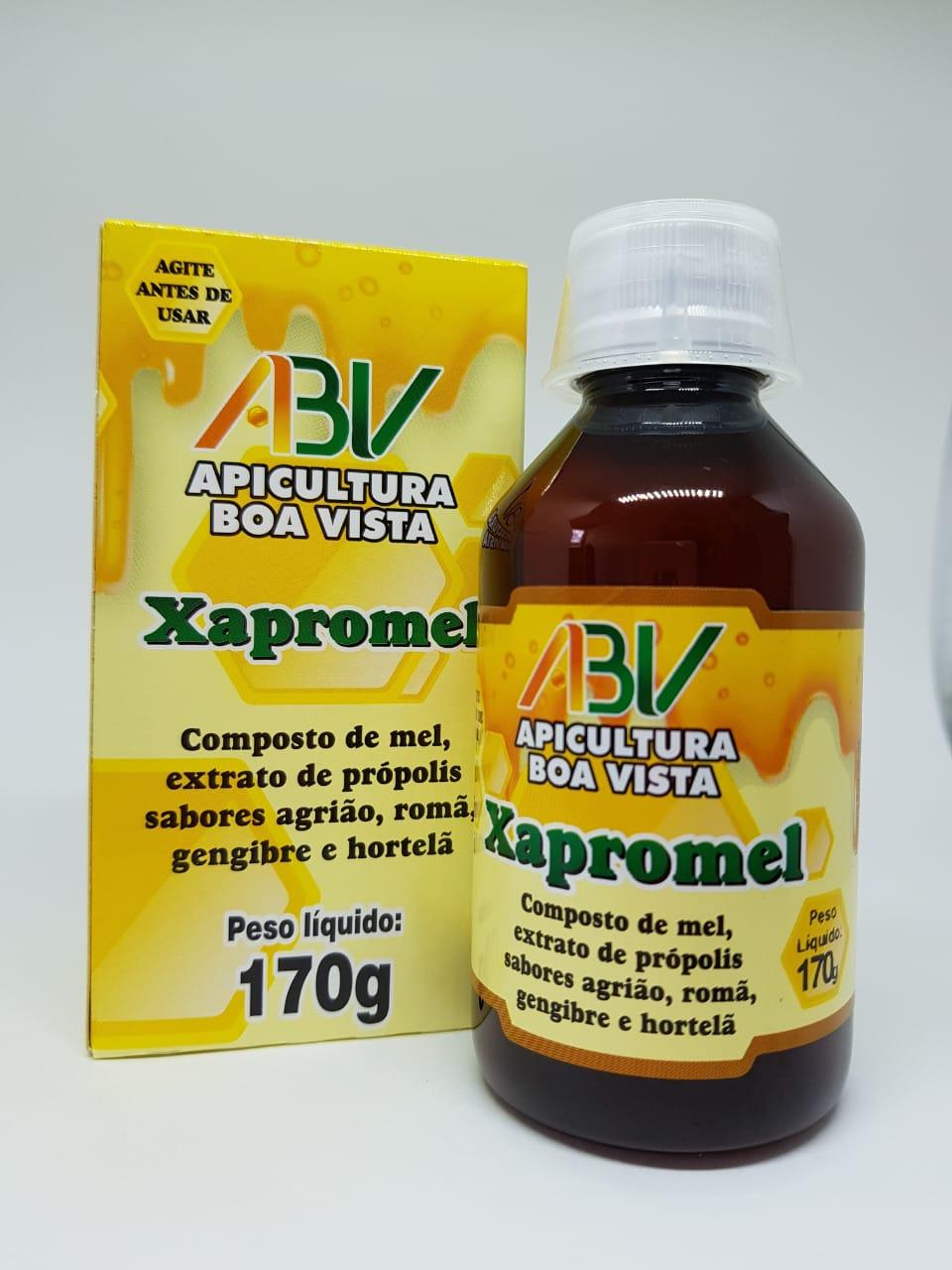 Xapromel - Composto de mel, extrato de propolis sabores romã, agrião, gengibre e hortelã 170g