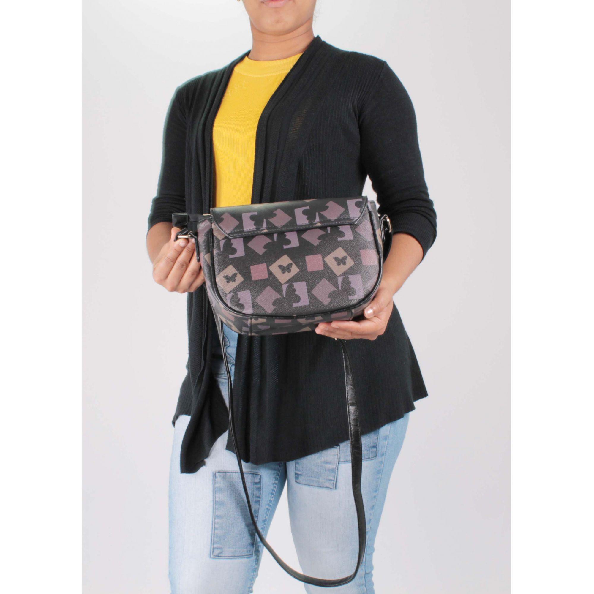 Bolsa Transversal Feminina - BLACK BUTTERFLY - BB007  - Menino & Menina 2
