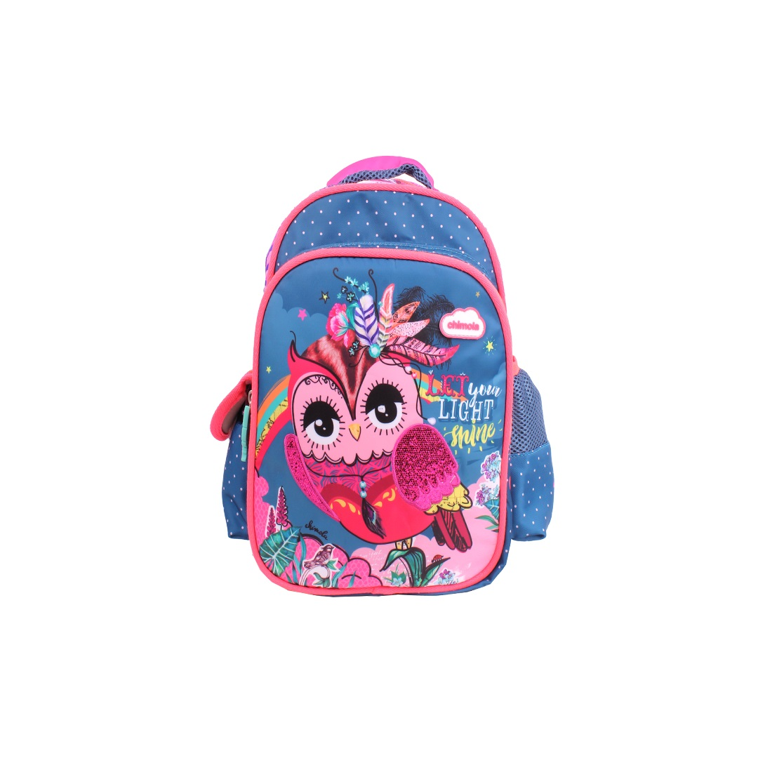 Mochila Escolar Infantil - Coruja - CHIMOLA - CH2112B  - Menino_Menina